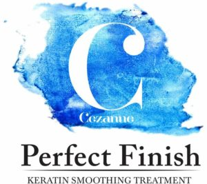 Logo of Cezanne Perfect Finish for Curly Hair. Product used by Toronto curly hair stylist Kim Gabriel of Born Curly
